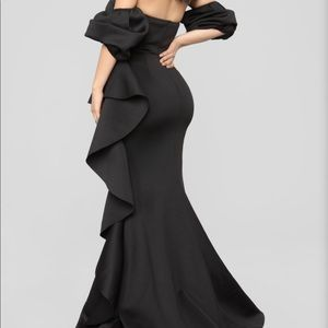 Fashion Nova black ruffle dress